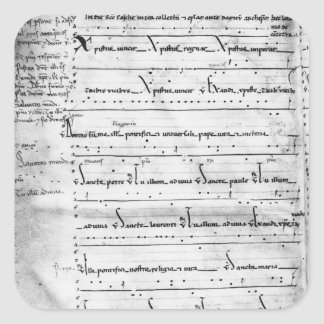 Ms.Latin Christus Vincit Pegatina Cuadrada