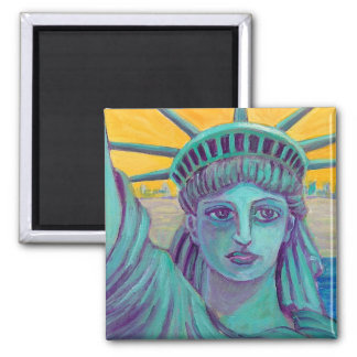 Ms. Liberty 2 Inch Square Magnet