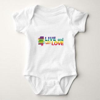 MS Live Let Love Baby Bodysuit