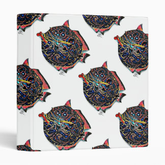 """""""Ms. Lou Lou"""" Fish with Attitude 3 Ring Binder"""