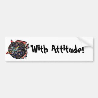 """""""Ms. Lou Lou"""" Fish with Attitude Bumper Sticker"""