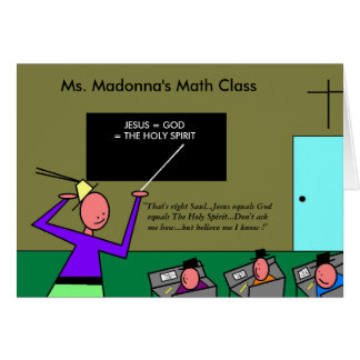 Ms. Madonna's Math Class Card