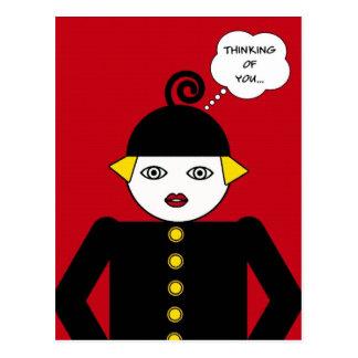 Ms. Martzkin Pop Art Postcard © 2012 M. Martz