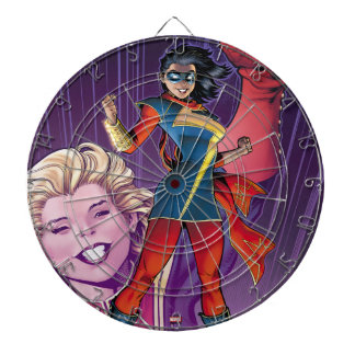 Ms. Marvel Comic Cover #1 Variant Dartboard