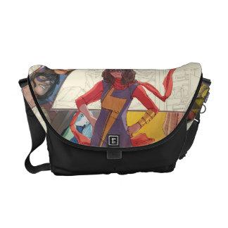 Ms. Marvel Comic Panel Logo Courier Bag
