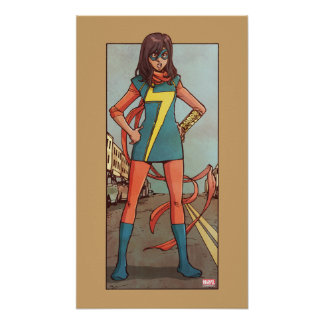 Ms. Marvel Standing In Street Poster