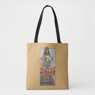 Ms. Marvel Standing In Street Tote Bag