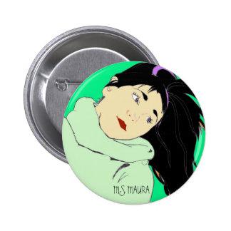 MS MAURA GREEN BUTTON PINS