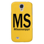 MS Mississippi plain black Samsung Galaxy S4 Covers