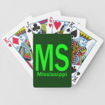 MS Mississippi plain green Bicycle Playing Cards