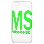 MS Mississippi plain green Case For iPhone 5C