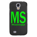 MS Mississippi plain green Galaxy S4 Cover
