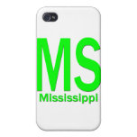 MS Mississippi plain green iPhone 4 Covers