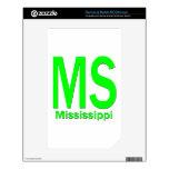 MS Mississippi plain green NOOK Color Decals