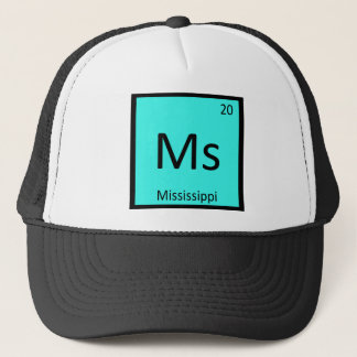 Ms - Mississippi State Chemistry Periodic Table Trucker Hat
