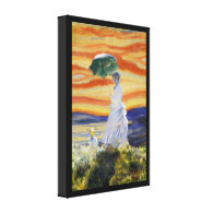 Ms Monet Meets The Screamer Canvas Print