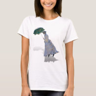 Ms Monet  with Umbrella T-Shirt