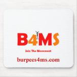 Ms Mousepads de Burpees 4 Tapetes De Ratón