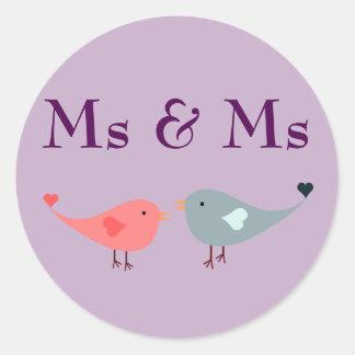 Ms & Ms (wedding) Classic Round Sticker