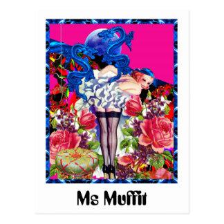 Ms Muffit Postcard
