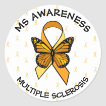 MS Multiple Sclerosis Awareness Butterfly Sticker