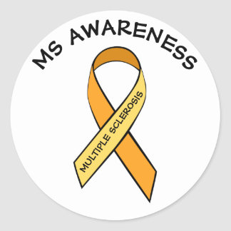 MS Multiple Sclerosis Awareness Ribbon Sticker