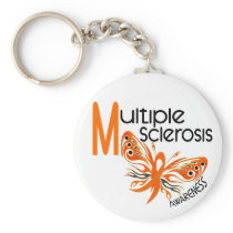 MS Multiple Sclerosis BUTTERFLY 3.1 Keychain