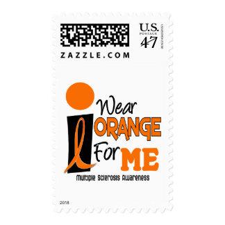 MS Multiple Sclerosis I Wear Orange For ME 9 Postage