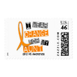 MS Multiple Sclerosis I Wear Orange For My Aunt 37 Stamp