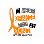 MS Multiple Sclerosis I Wear Orange For My Aunt 37 Post Card