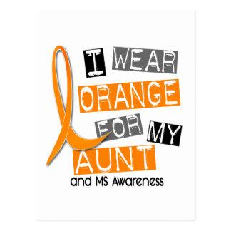 MS Multiple Sclerosis I Wear Orange For My Aunt 37 Postcard