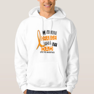 MS Multiple Sclerosis I Wear Orange For My Dad 37 Hoodie