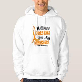 MS Multiple Sclerosis I Wear Orange For My Daughte Hoodie