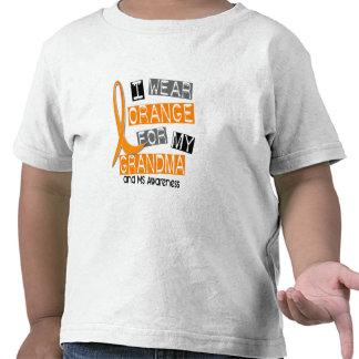 MS Multiple Sclerosis I Wear Orange For My Grandma Tshirt