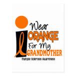 MS Multiple Sclerosis I Wear Orange For My Grandmo Postcard
