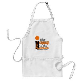 MS Multiple Sclerosis I Wear Orange For My Husband Adult Apron