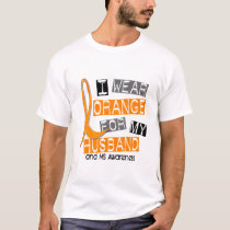 MS Multiple Sclerosis I Wear Orange For My Husband T-Shirt