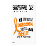 MS Multiple Sclerosis I Wear Orange For My Mom 37 Stamp
