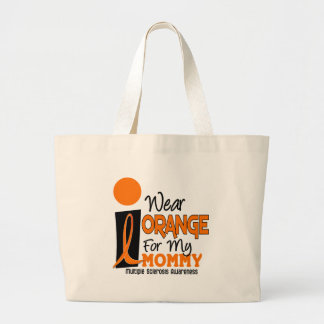 MS Multiple Sclerosis I Wear Orange For My Mommy 9 Large Tote Bag