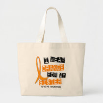 MS Multiple Sclerosis I Wear Orange For My Sister Large Tote Bag