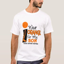 MS Multiple Sclerosis I Wear Orange For My Son 9 T-Shirt