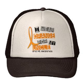 MS Multiple Sclerosis I Wear Orange For My Uncle 3 Trucker Hat