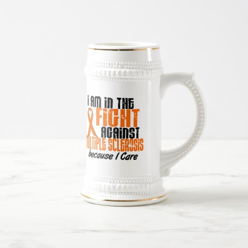 MS Multiple Sclerosis IN THE FIGHT BECAUSE I CARE 18 Oz Beer Stein