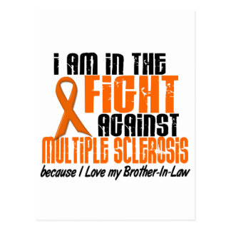 MS Multiple Sclerosis IN THE FIGHT BROTHER-IN-LAW Postcard