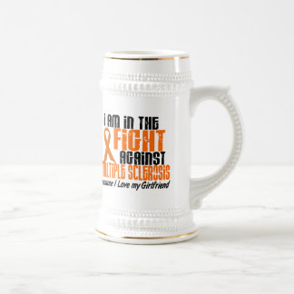 MS Multiple Sclerosis IN THE FIGHT GIRLFRIEND 1 Beer Stein