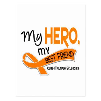 MS Multiple Sclerosis MY HERO MY BEST FRIEND 42 Postcard