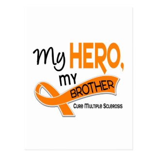 MS Multiple Sclerosis MY HERO MY BROTHER 42 Postcard