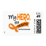 MS Multiple Sclerosis MY HERO MY DAUGHTER 42 Postage Stamp