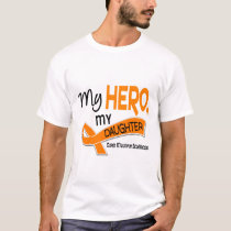 MS Multiple Sclerosis MY HERO MY DAUGHTER 42 T-Shirt