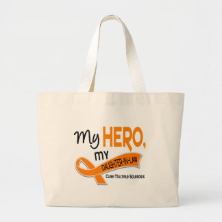 MS Multiple Sclerosis MY HERO MY DAUGHTER-IN-LAW 4 Canvas Bags